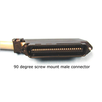 25 Pair Connectorized Cable 90 Degree Screw Mount Male Connector