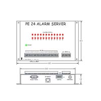 Puleo PE24 Wall Mount Alarm Server Drawing