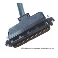 25 Pair Connectorized Cable 180 Degree Screw Mount Female Connector